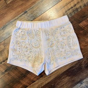 YA Los Angeles High Rise Beaded Shorts